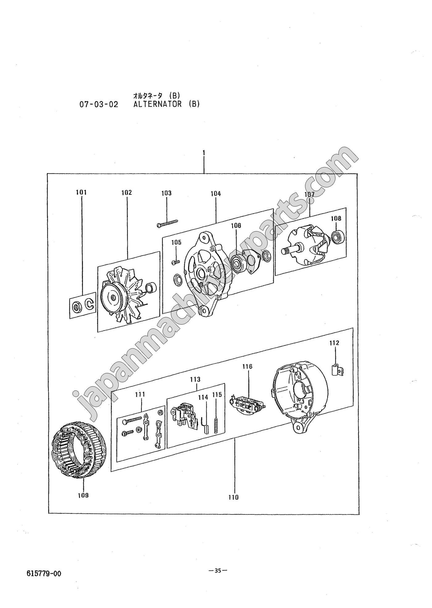 Parts For Mitsubishi K4n Alternator Engine Diagram