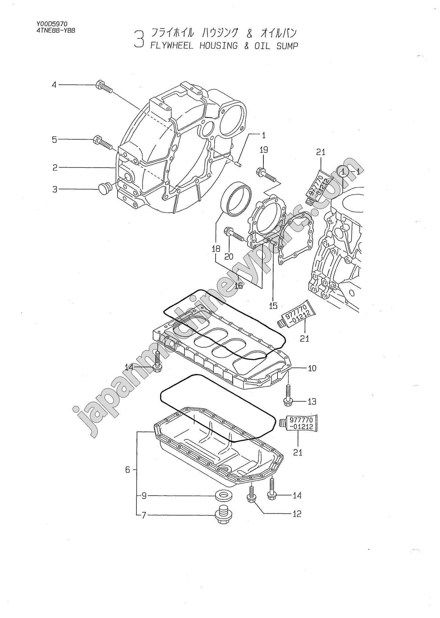 Parts for YANMAR 4TNE88-YBB