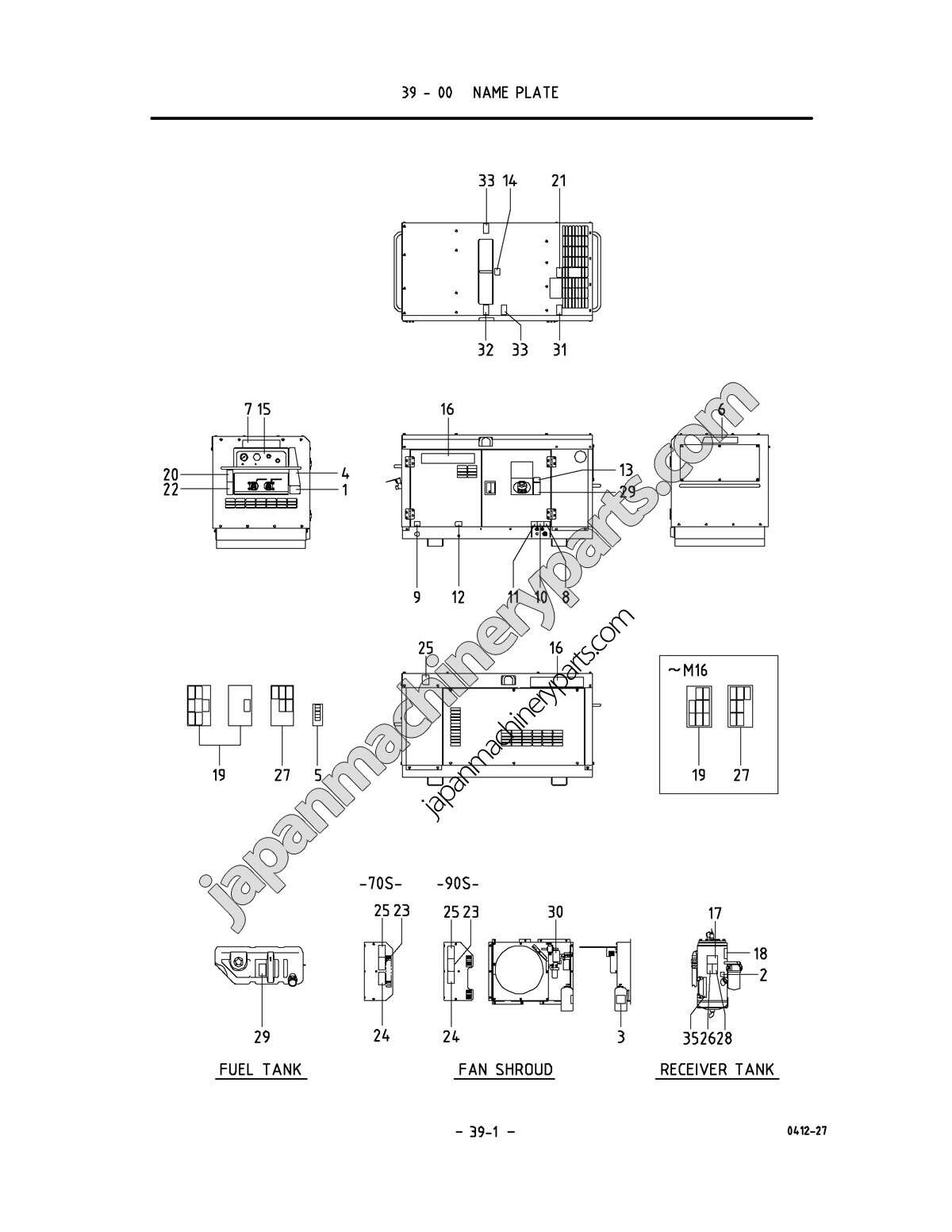 Parts for AIRMAN PDS70S/90S-5B1 (0051 ~)