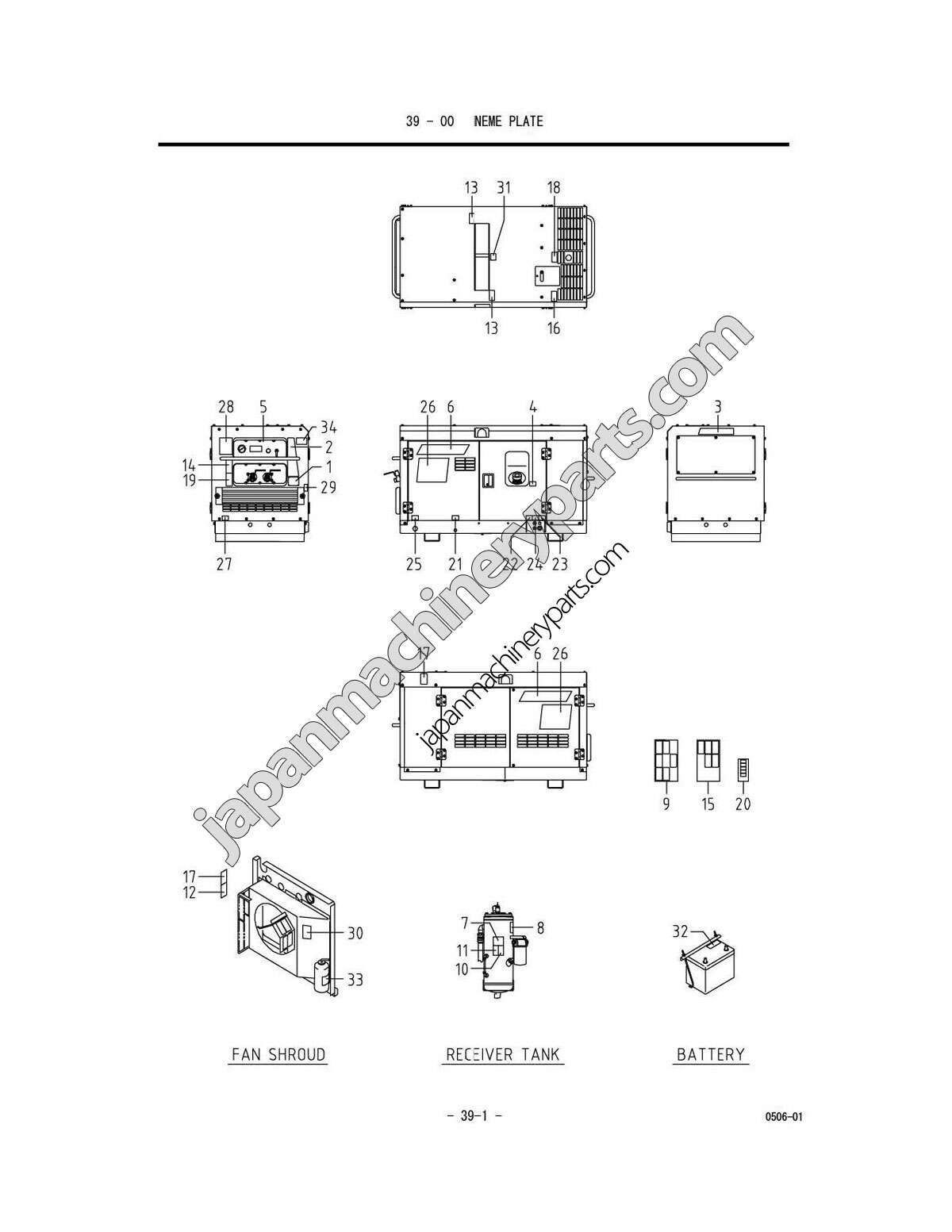 Parts for AIRMAN PDS75S/100S-5B2 (0051 ~)