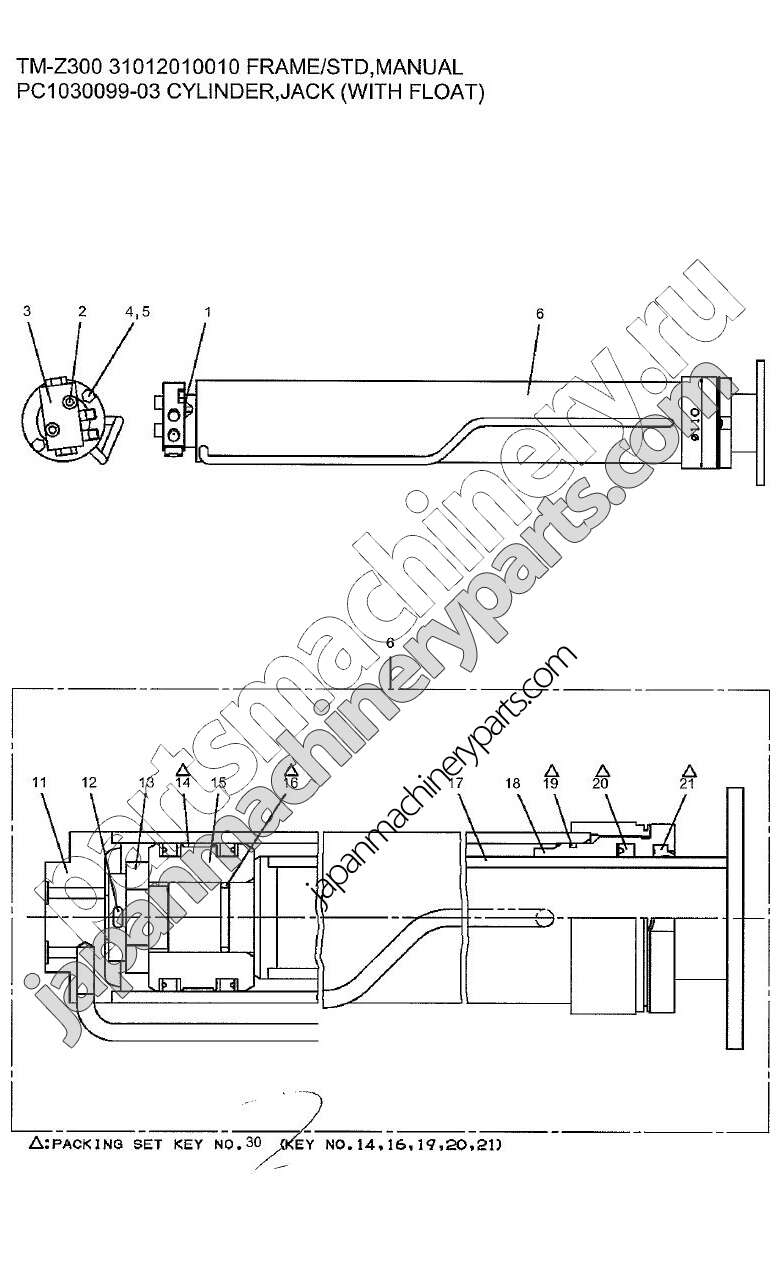 CYLINDER ELEVATING · CYLINDER ELEVATING · CYLINDER JACK WITHOUT FLOAT ...