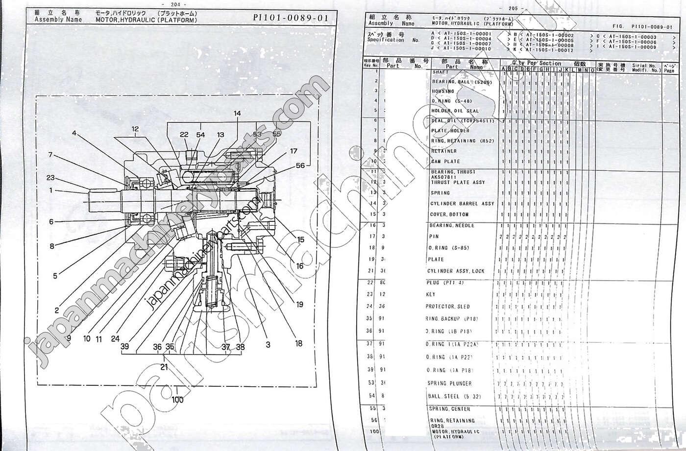 Схема гидравлики для tadano
