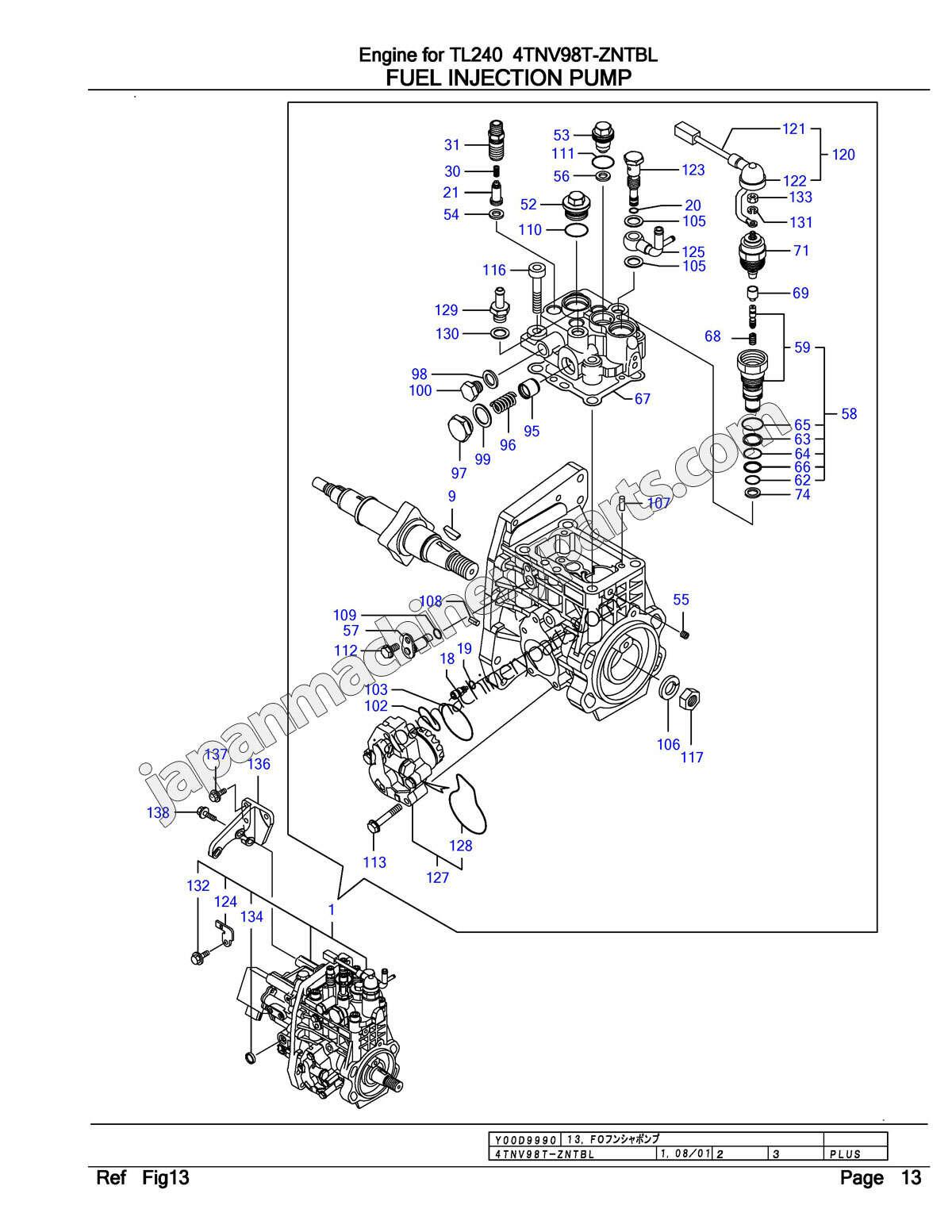 32 Yanmar Injector Pump Diagram