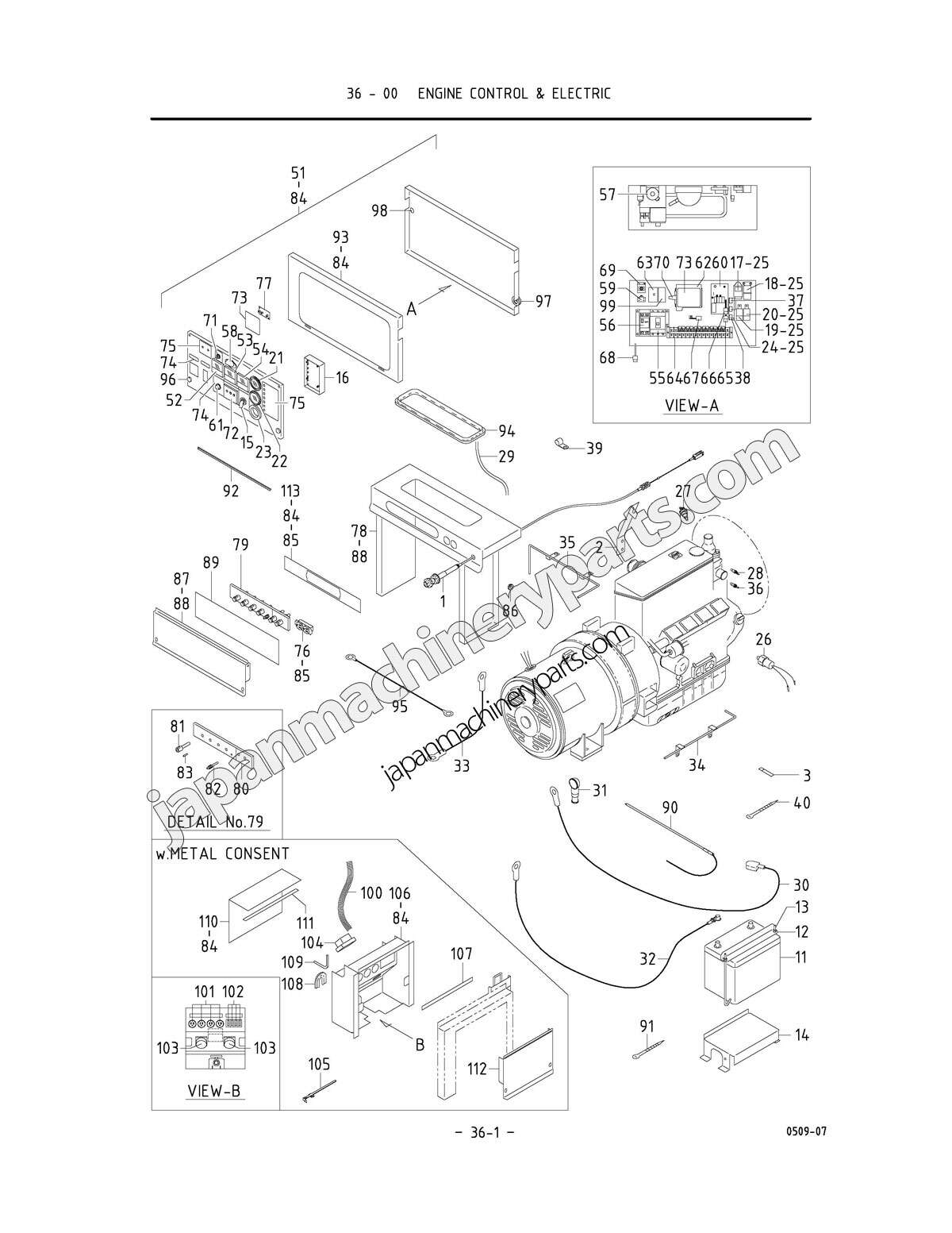parts for airman sdg25s