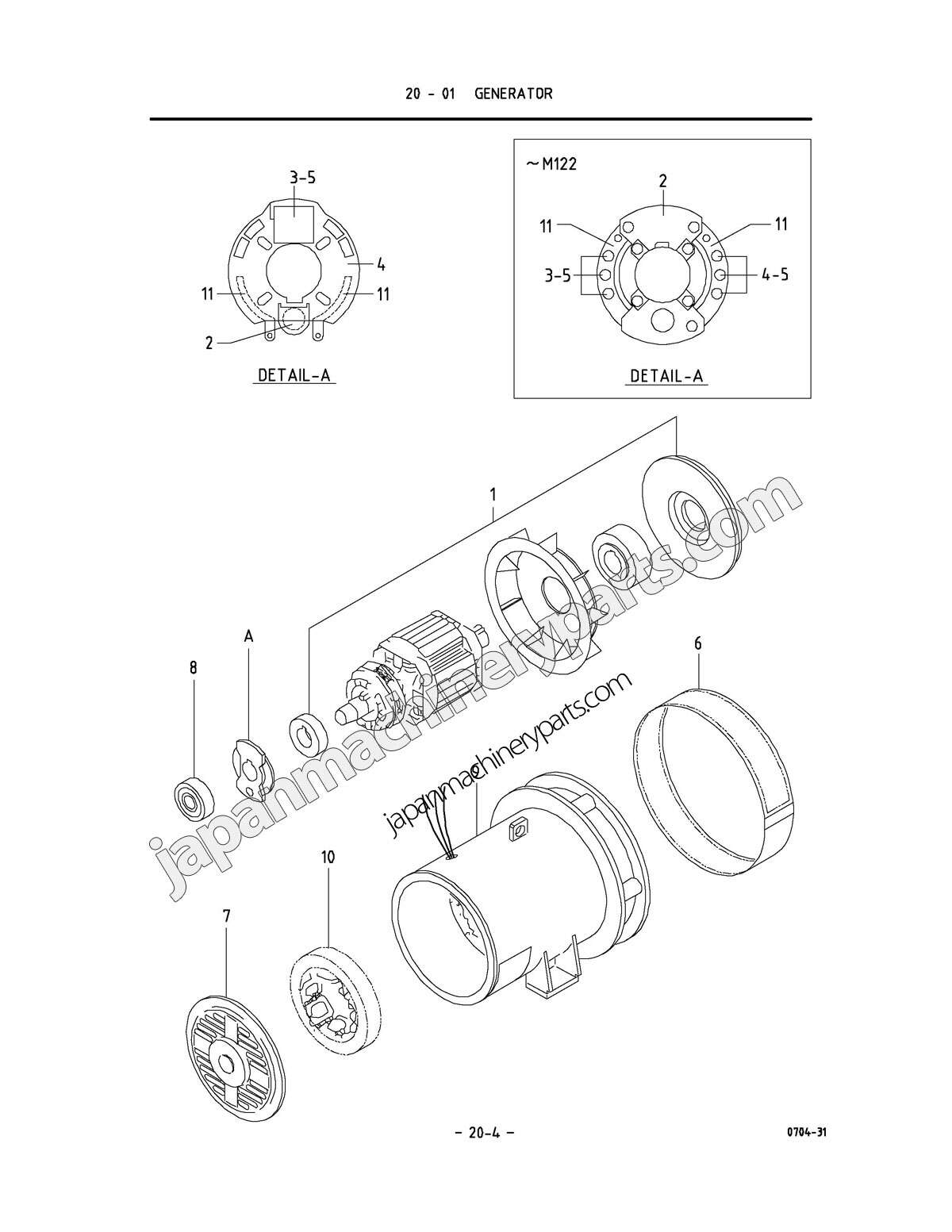 Parts for airman sdg45as 3a567 generator pooptronica Gallery