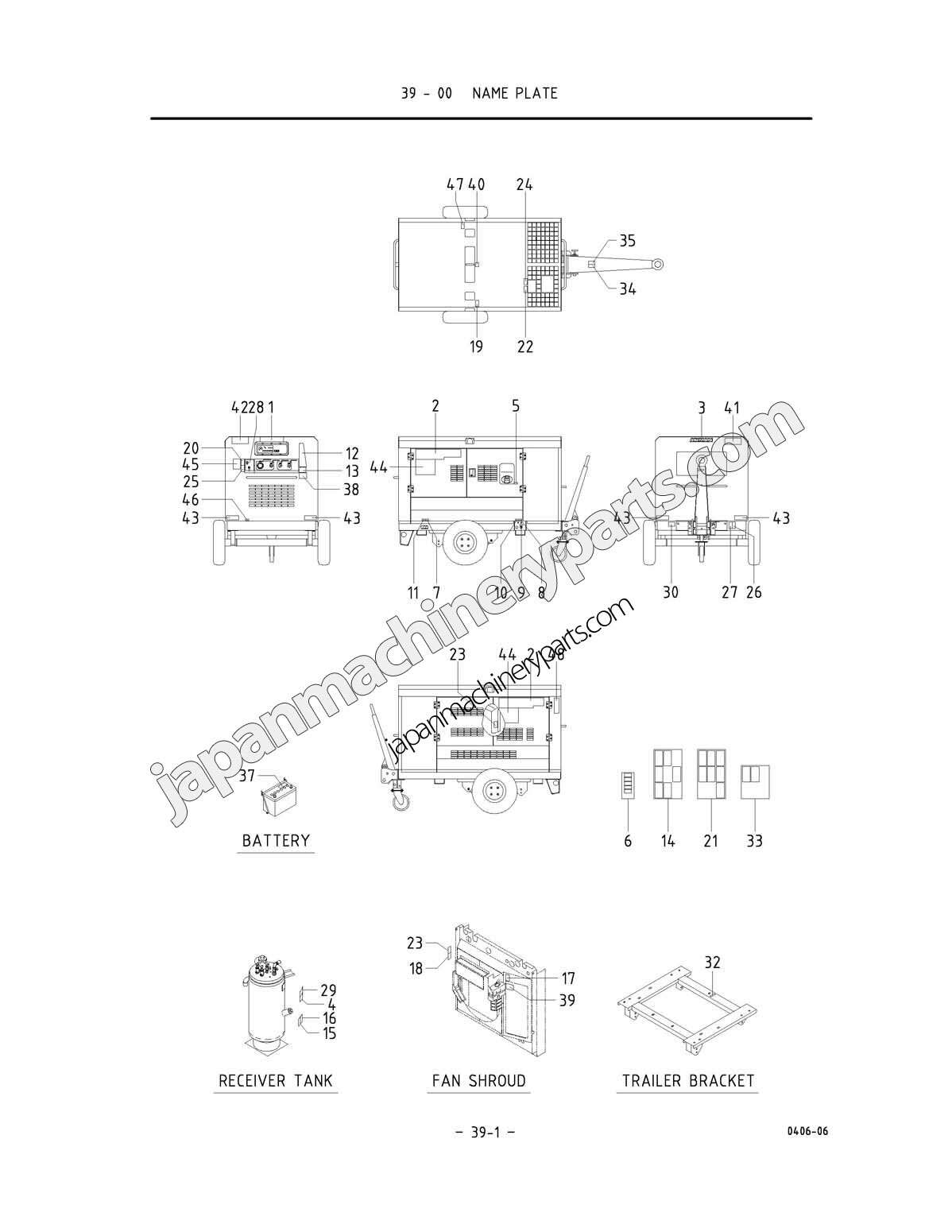 Parts for AIRMAN PDS265S-4B1/5B1 (0051 ~)