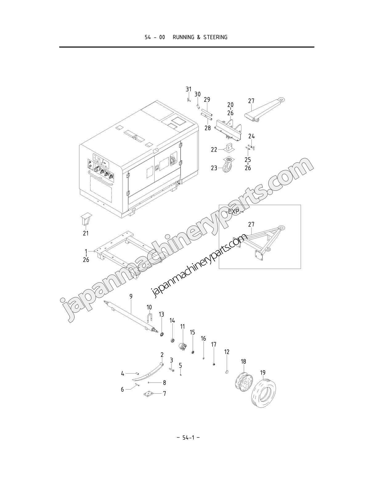 Parts For Airman Pds265s 4b1 5b1 0051 Steering Schematic Running