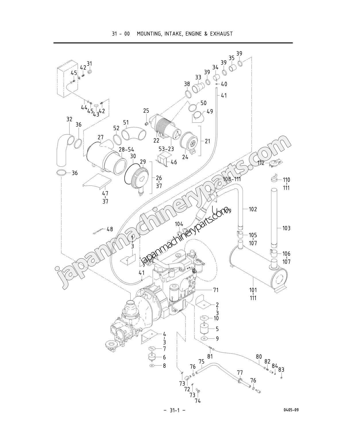 Array Parts For Airman Pds390s 4b1 5b1 0051 Rh Japanmachineryparts: 10102 Painless Auto Wiring Diagram At Chusao.net