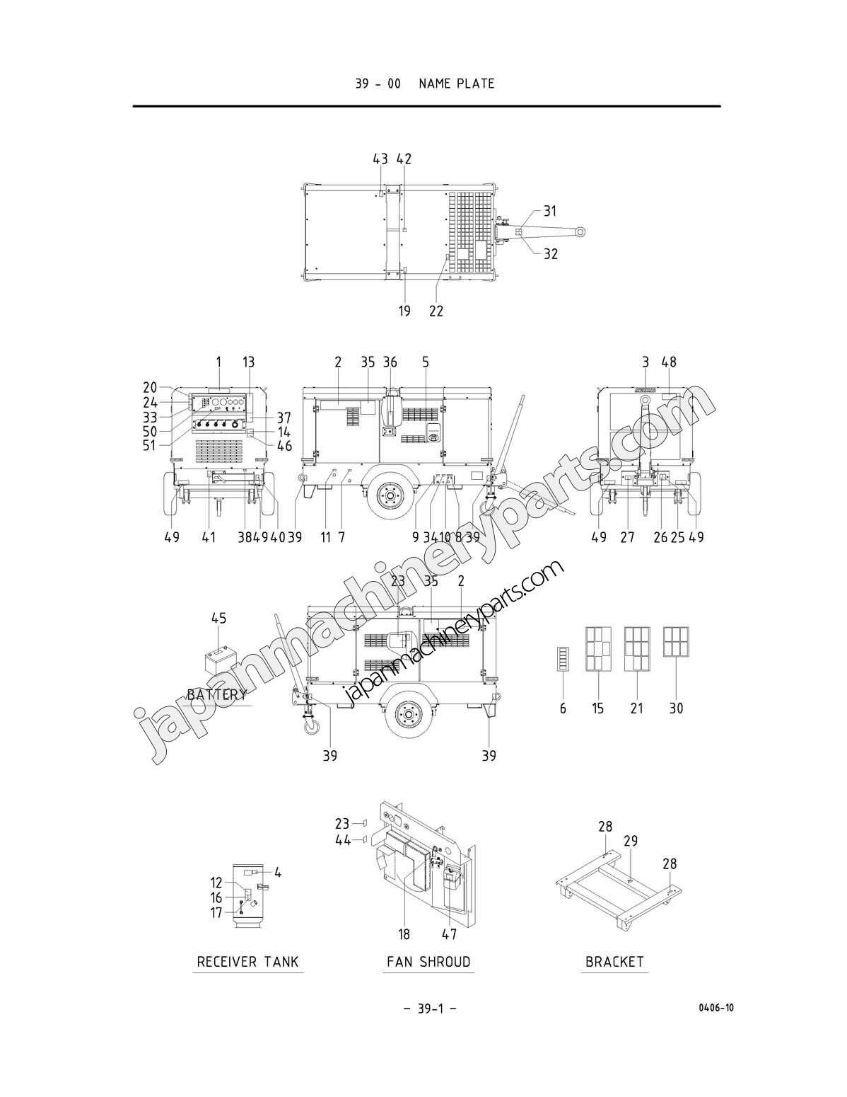 Parts For Ihi Pds390s 4b1 5b1 0051 Engine Exhaust Diagram Name Plate