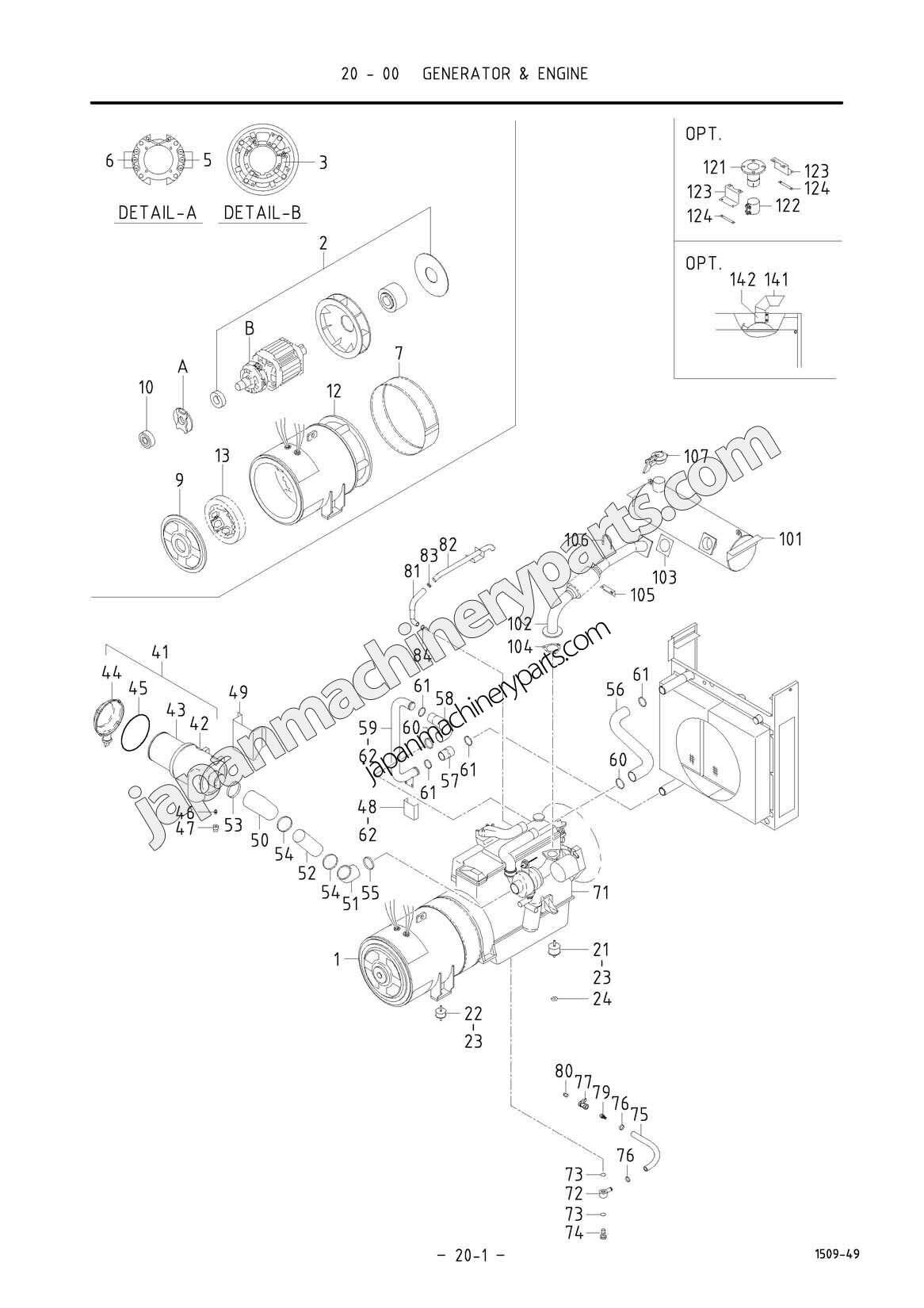 parts for airman sdg150s