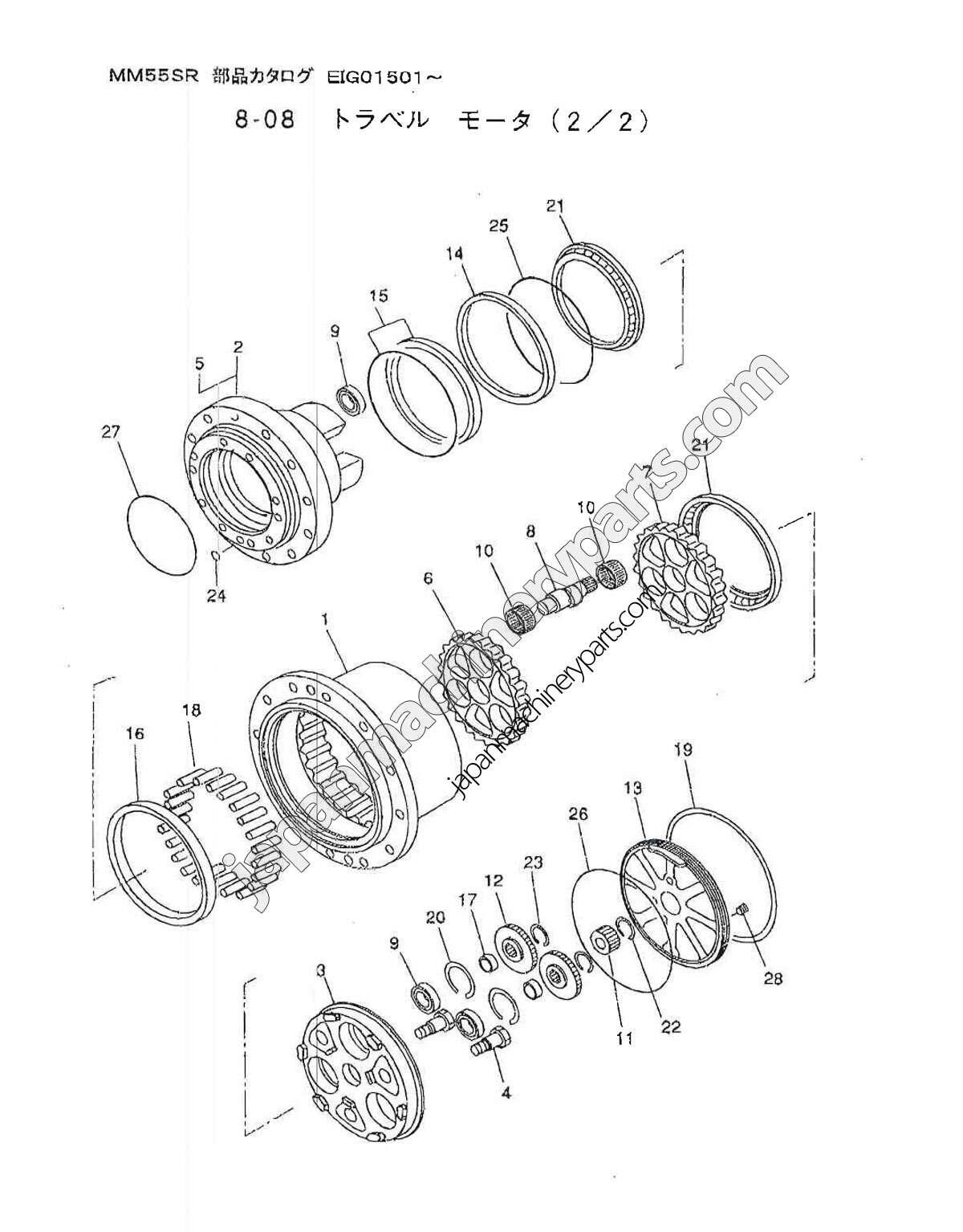 parts for mitsubishi mm55sr